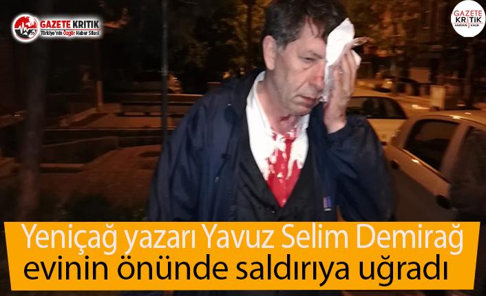 Yeniçağ yazarı Yavuz Selim Demirağ evinin önünde...