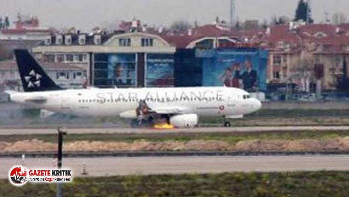 Yolcu uçağı, havadayken çıkan yangın sonrası...