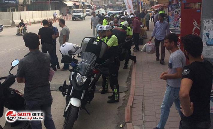 Adana'da 541 motosiklet sürücüsüne 496 bin...