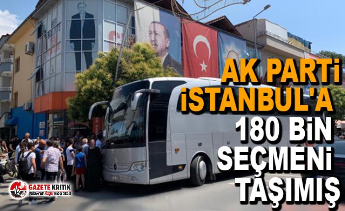 AK Parti İstanbul'a 180 bin seçmeni taşımış