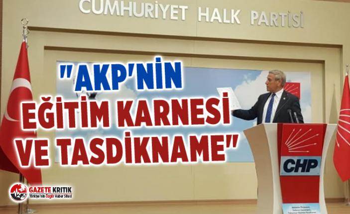 """""""AKP'NİN EĞİTİM KARNESİ VE TASDİKNAME"""""""