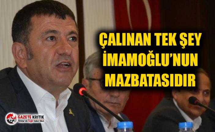 CHP'li Ağbaba: Çalınan tek şey İmamoğlu'nun...
