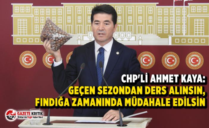 CHP'Lİ AHMET KAYA:GEÇEN SEZONDAN DERS ALINSIN,...