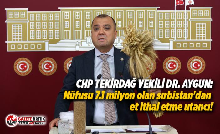 CHP TEKİRDAĞ VEKİLİ DR. AYGUN:Nüfusu 7.1 milyon olan Sırbistan'dan et ithal etme utancı!