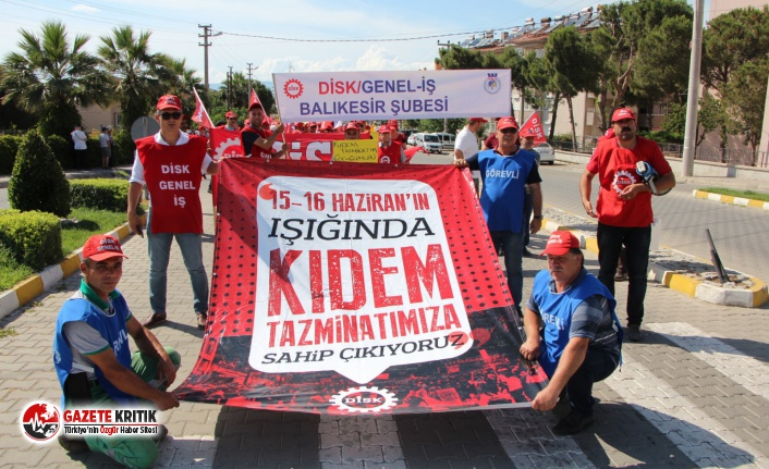 DİSK'ten 15-16 Haziran Direnişi'nin yıldönümü mitingi