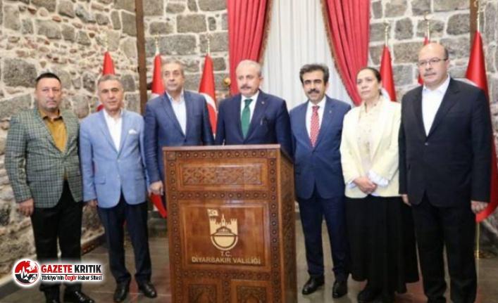 Diyarbakır'a gelen Meclis Başkanı, belediye...
