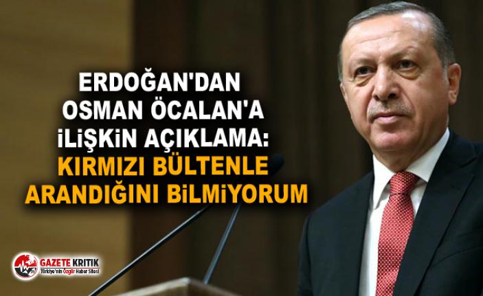 Erdoğan'dan TRT'de konuşan Osman Öcalan'a ilişkin açıklama: Kırmızı bültenle arandığını bilmiyorum
