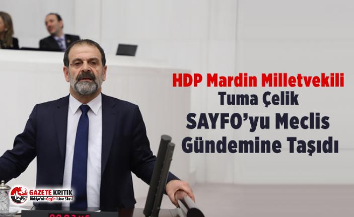 HDP Mardin Milletvekili Tuma Çelik SAYFO'yu Meclis...