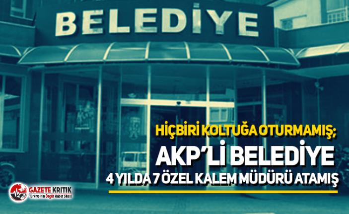 Hiçbiri koltuğu oturmamış; AKP'li belediye 4...