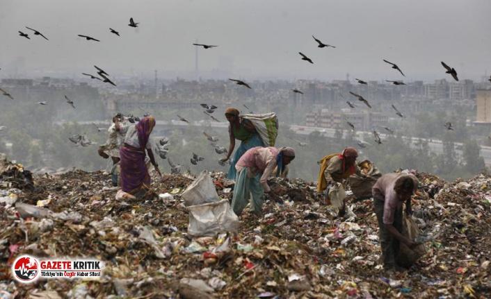 Hindistan'ın yılda 10 metre yükselen çöp...