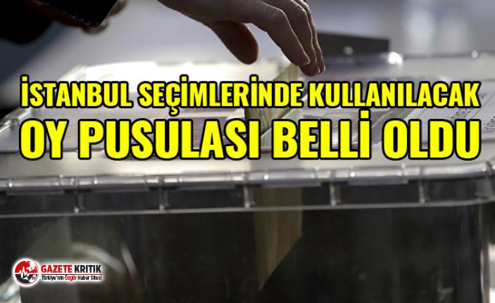 İstanbul seçimlerinde kullanılacak oy pusulası...