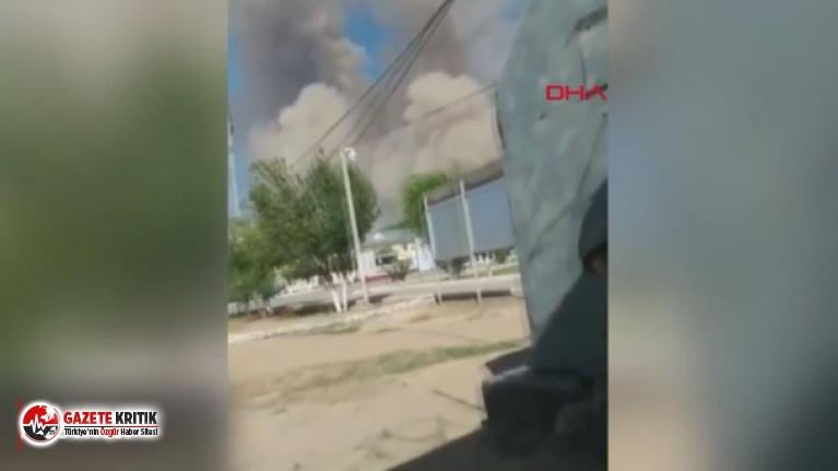 Kazakistan'daki silah deposundaki patlamalar...