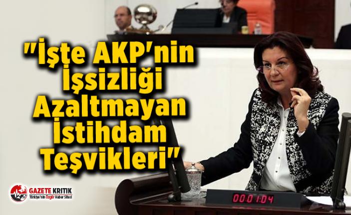 Lale Karabıyık - İşte AKP'nin İşsizliği Azaltmayan İstihdam Teşvikleri