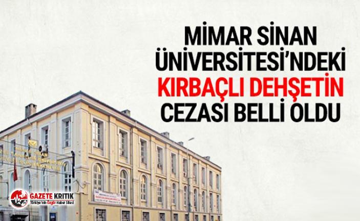 Mimar Sinan'daki kırbaçlı rezaletin cezası...