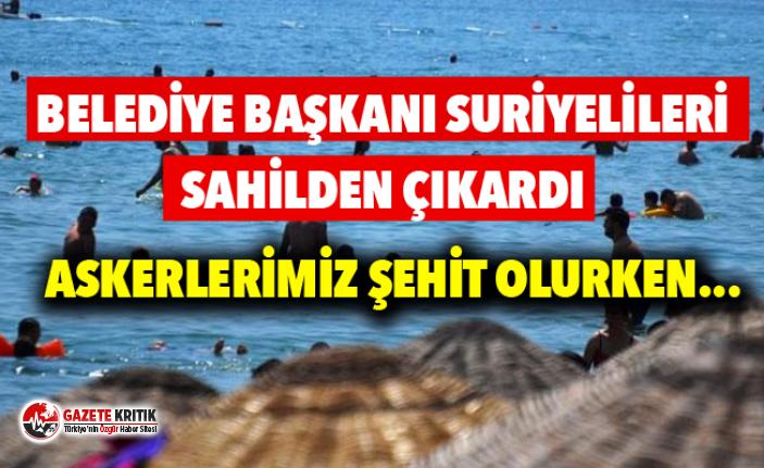 Mudanya'da belediye başkanı, Suriyelilere sahili...