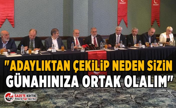 Saadet Partisi İstanbul İl Başkanı Sevim: Eskiden...
