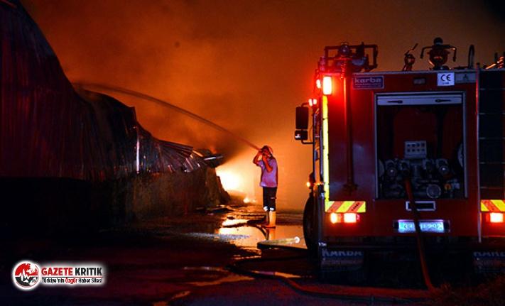 Tarsus'ta bisiklet ve motosiklet üretim fabrikasında yangın