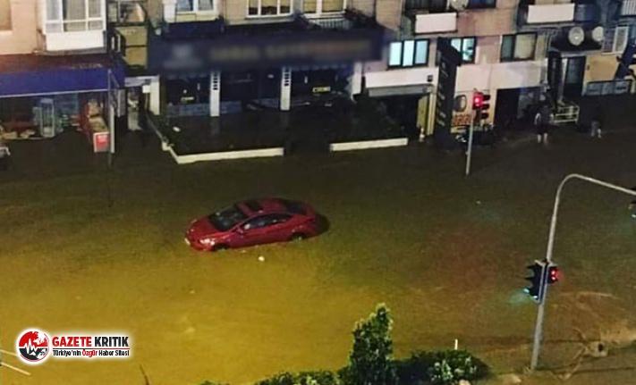 Trabzon'da sağanak etkili oldu, yollar göle...