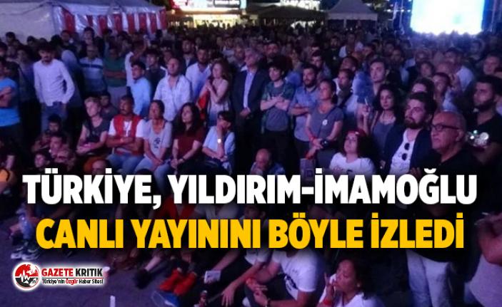 Türkiye, Yıldırım-İmamoğlu canlı yayınını böyle izledi
