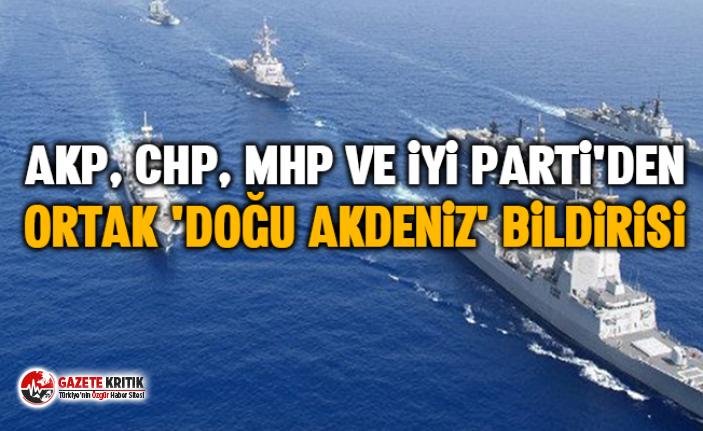 AKP, CHP, MHP ve İyi Parti'den ortak 'Doğu Akdeniz' bildirisi