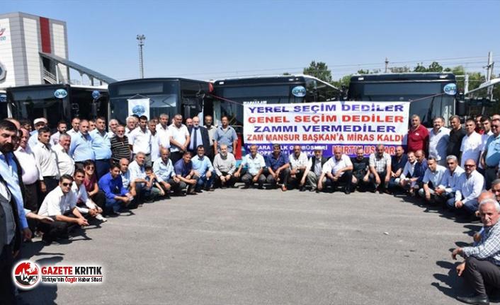 Ankara'da özel halk otobüsçüleri yüzde 45...