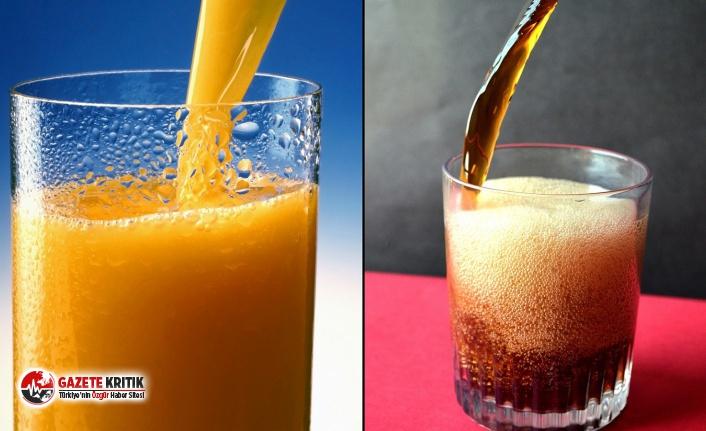 Araştırma: Doğal meyve suları da kola kadar tehlikeli