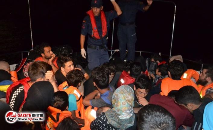 Ayvalık açıklarında 46 sığınmacı yakalandı