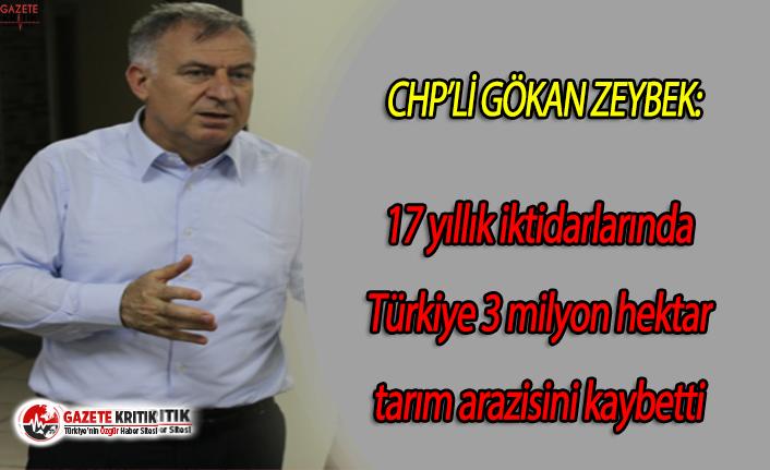 CHP'li Gökan Zeybek:17 yıllık iktidarlarında...
