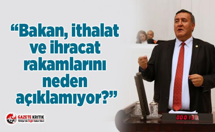"""CHP'li Gürer: """"Bakan, ithalat ve ihracat rakamlarını..."""