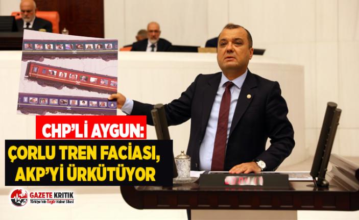 CHP MİLLETVEKİLİ DR. AYGUN:ÇORLU TREN FACİASI,...
