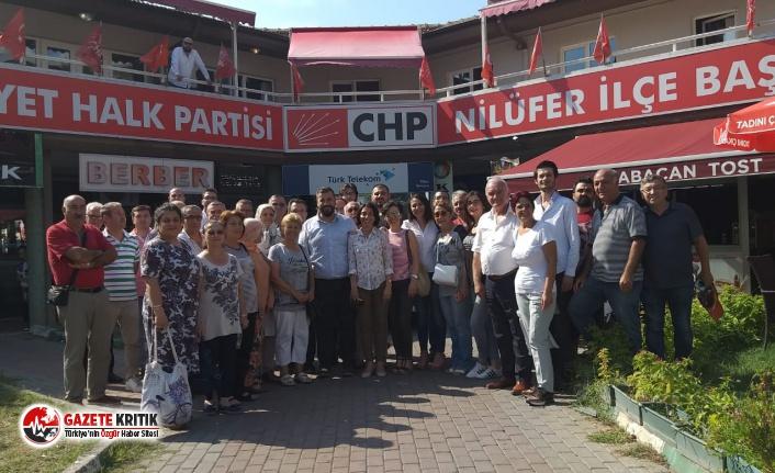 CHP' Nilüfer'den yerel seçimde tulum çıkartan Badırga'ya teşekkür ziyareti