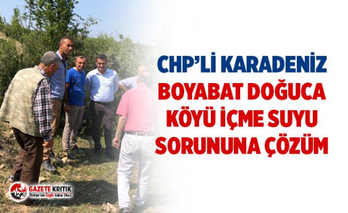 CHP'li Karadeniz Boyabat Doğuca Köyü İçme Suyu...