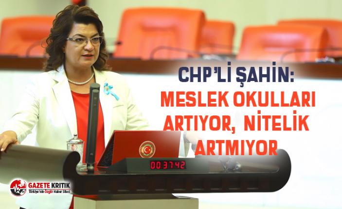 CHP'Lİ ŞAHİN: MESLEK OKULLARI ARTIYOR, NİTELİK...