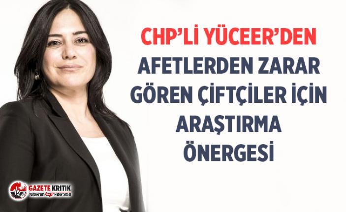 CHP'Lİ YÜCEER'DEN AFETLERDEN ZARAR GÖREN ÇİFTÇİLER...