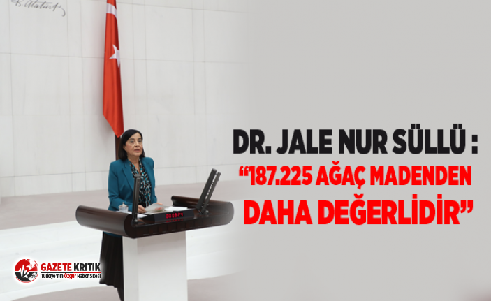 "Dr. Jale Nur Süllü :""187.225 AĞAÇ MADENDEN DAHA..."