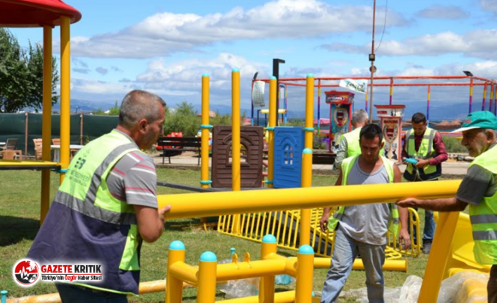 Edremit Belediyesi'nden yeni çocuk parkı