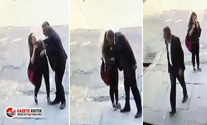 Genç kıza sokak ortasında kabusu yaşattı! Başka...