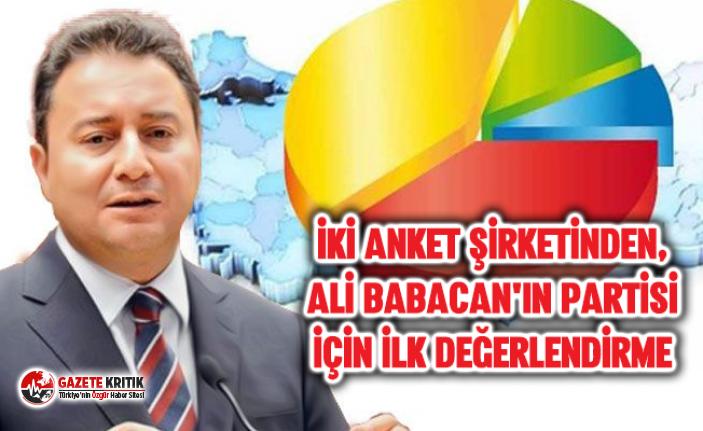 İKİ ANKET ŞİRKETİNDEN, ALİ BABACAN'IN PARTİSİ...