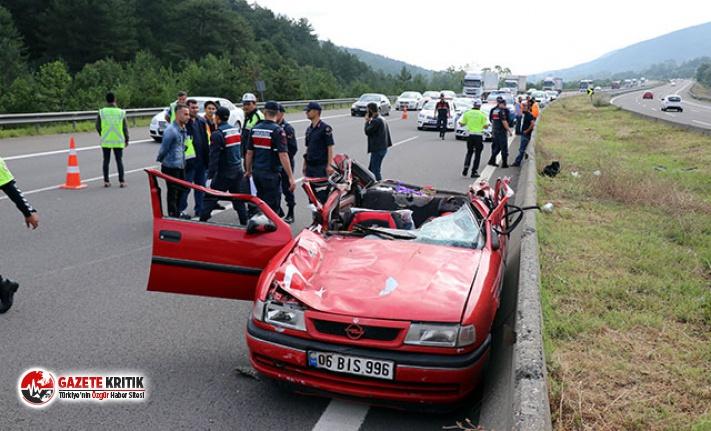 TEM'de kaza: 1 ölü, 2 yaralı