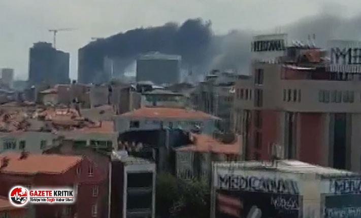 Ümraniye'de 29 katlı binada yangın