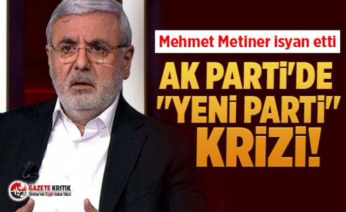 AK Parti'de ''yeni parti'' krizi! Mehmet Metiner isyan etti