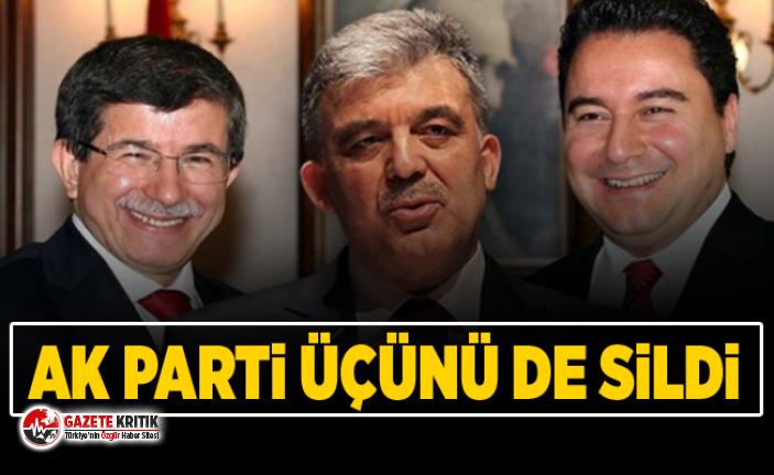 AK Parti, Gül, Davutoğlu ve Babacan'ı davet etmedi