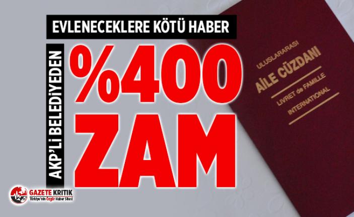 AK Partili belediyeden nikah ücretlerine okkalı...