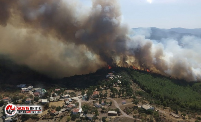Bodrum'daki orman yangını tehlikeli boyuta ulaştı Bodrum'daki orman yangını tehlikeli boyuta ulaştı