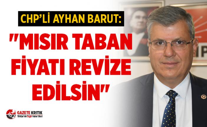 """CHP'li Ayhan Barut: """"Mısır taban fiyatı..."""