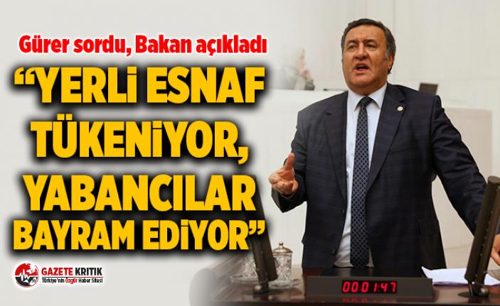 """CHP'li Gürer: """"Yerli esnaf tükeniyor, yabancılar..."""
