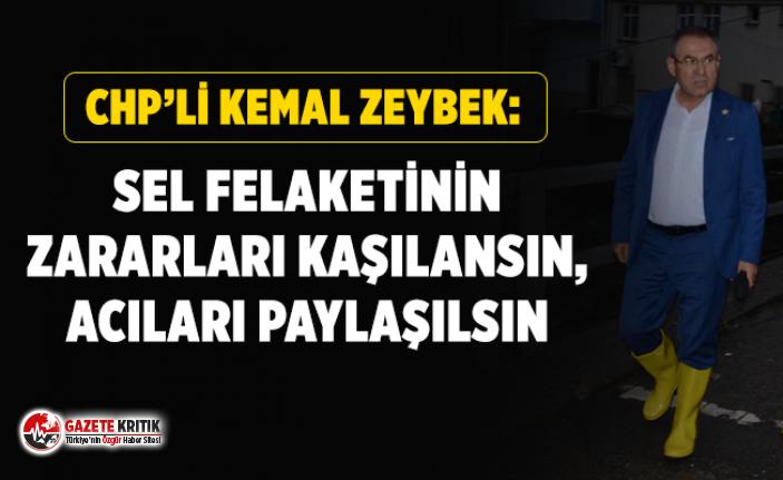 CHP'li Kemal Zeybek: SEL FELAKETİNİN ZARARLARI KAŞILANSIN, ACILARI PAYLAŞILSIN