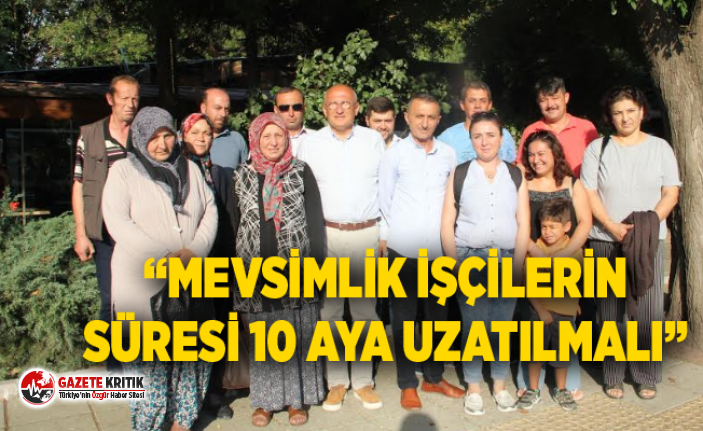 CHP'li Çakırözeryarın işsiz kalacak işçilerle...