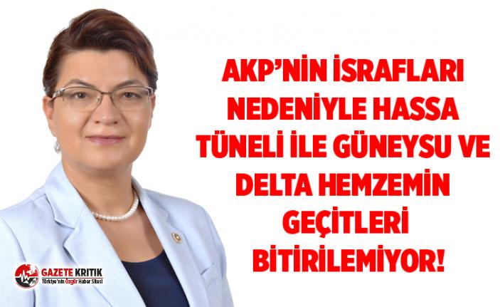 CHP'Lİ ŞAHİN: AKP'NİN İSRAFLARI NEDENİYLE...
