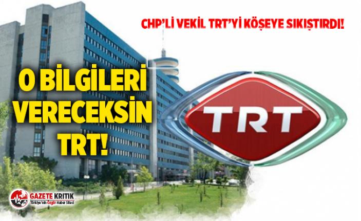 CHP'Lİ VEKİL TRT'Yİ KÖŞEYE SIKIŞTIRDI!